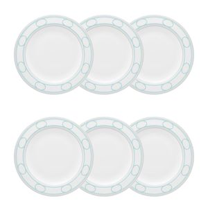 Conjunto de 06 pratos sobremesa 23 cm Strauss Hera